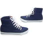 Tênis Feminino Jeans Azul;
