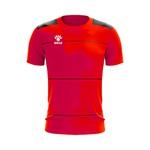 Camisa Jogo - Vermelha com detalhe de listra no peito