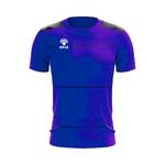 Camisa Jogo - Azul com detalhe de listra no peito
