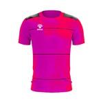 Camisa Jogo - Rosa celeste com detalhe de listra no peito