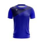 Camisa Casual Masculina Azul com listras