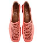 Loafer Rebeca Pala Em Laser Traseiro Dobrável Coral