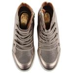 Tênis Siena Sneakers Atacador Elástico Metallic Salto 4,5 Cm