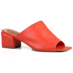 Sandália Sophie Mule Dark Orange Salto 5,5 cm