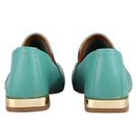 Loafer Rebeca Ponto Celeiro Jade Salto 2 cm