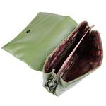 Bolsa Tiracolo Matelassê Caqui Em Couro - Altura 20cm x Largura 23cm