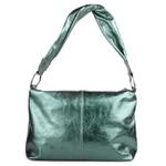 Shoulder Bag Alça Torcida Couro Verde Eden