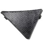 Crossbody Shape Triângulo Couro Preto