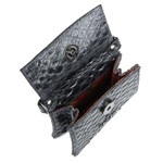Mini Bag Estruturada Couro Preto