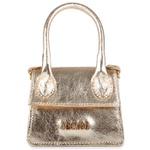 Mini Bag Estruturada Couro Ouro Light