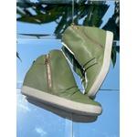 Tênis Siena Sneakers Siciliano Detalhe Furinhos e Zíperes Lateral Salto 4,5 Cm