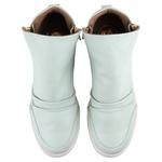 Tênis Siena Sneakers Mint Ash Detalhe Furinhos e Zíperes Lateral Salto 4,5 Cm