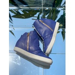 Tênis Siena Sneakers Violeta Detalhe Furinhos e Zíperes Lateral Salto 4,5 Cm