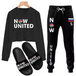 KIT NOW UNITED CALÇA + CROPPED + CHINELO SOFYA - PRETO