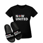 KIT CAMISETA + CHINELO NOW UNITED - PRETO