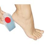 Calcanheira de Silicone Silisporte Orthopauher com Ponto Vermelho