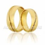 Alianças Grossas de Casamento em Ouro e Diamantes