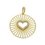 Pingente Mandala Coração em Ouro 18k
