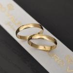 Par de Aliança com Friso em Ouro 18k Para Casamento