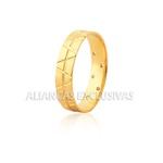 Par de Aliança em Ouro 18k com Diamante
