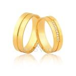 Alianças com Diamantes em Ouro 18k
