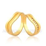Aliança Personalizada com Diamantes 18k