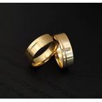 Aliança com 3 Diamantes Exclusiva em Ouro 18k