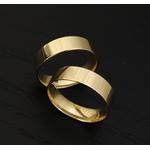 Aliança Reta em Ouro 18k para Casamento