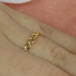 Anel de Ouro Símbolo do Infinito Feminino