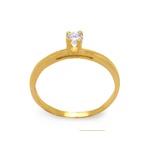 Anel Solitário Tradicional Ouro 18k com Diamante