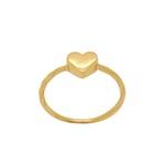 Anel Coração Falange em Ouro 18k