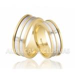 Alianças de Casamento Bodas em Ouro Amarelo e Ouro Branco