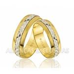 Alianças Grossa de Casamento Bodas em Ouro 18k