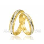 Alianças de Casamento Bodas com Ouro Branco Finas
