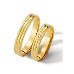 Aliança com Diamante em Ouro 18k