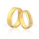 Alianças de Casamento em Ouro Polidas