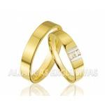 Aliança de Bodas com Diamantes em Ouro 18k