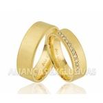 Alianças Anatômicas de Noivado e Casamento em Ouro 18k