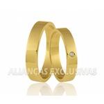 Alianças De Ouro Polidas para Casamento