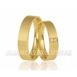 Alianças Polidas de Noivado e Casamento em Ouro 18k