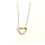 Gargantilha de Coração em Ouro 18k