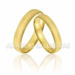 Aliança Anatômica para Casamento em Ouro 18K