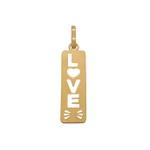 Pingente Placa LOVE em Ouro 18k