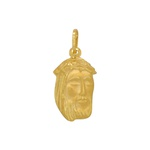 Pingente Face de Cristo em Ouro 18k