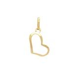 Pingente Coração Vazado Ouro 18k