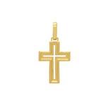 Pingente Cruz em Ouro 18k