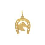 Pingente Ferradura Cavalo em Ouro 18k