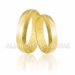 Alianças de Noivado e Casamento em Ouro 10k Grossas