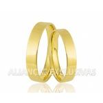 Aliança Fina em Ouro 18k Noivado e Casamento
