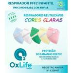 Respirador Infantojuvenil Reutilizável PFF2 (S) - cores claras - 10 un.